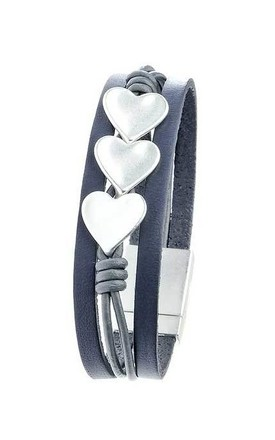 Three heart silver bracelet by Nautical and Nice Ltd