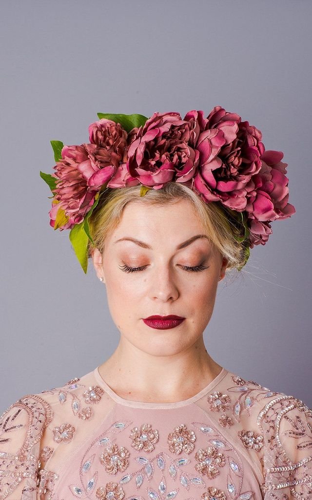 Winter Oversized Peony Crown - Dusky Pink by Crown and Glory