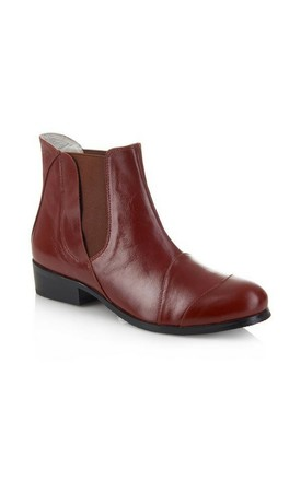 Fulham Brown Ankle Boots by Yull Shoes