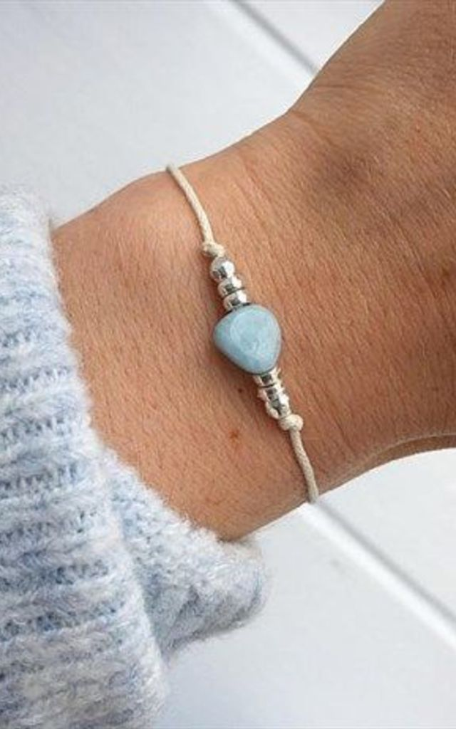 Salty Wish Aquamarine Bracelet by SERENITYproject