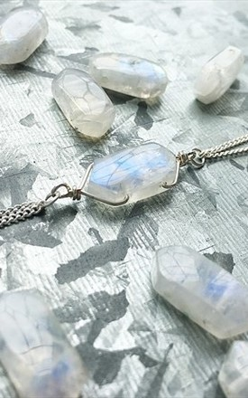 Luna Light - Rainbow Moonstone Silver Bracelet by SERENITYproject