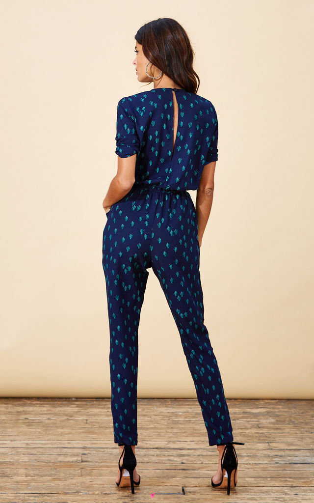 Zion Jumpsuit in Navy Cactus image
