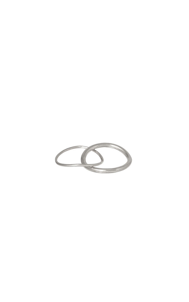Sterling Silver Double Ring by DOSE of ROSE