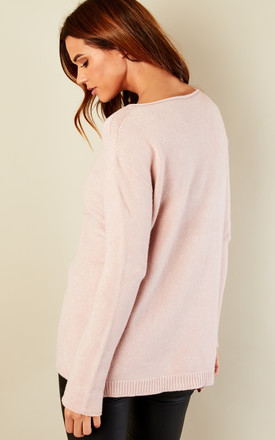 Star Ribbed Jumper Pink by Bella and Blue