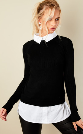 Black Shirt Jumper by Lilah Rose