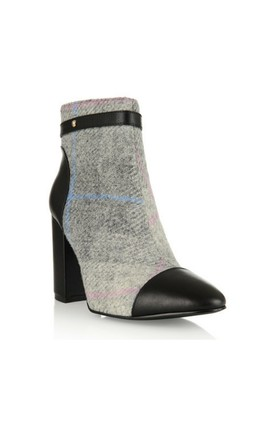 Chester Tweed Block Heel Boot by Yull Shoes
