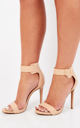 Nude Strappy Heels With Buckle by Truffle Collection Product photo