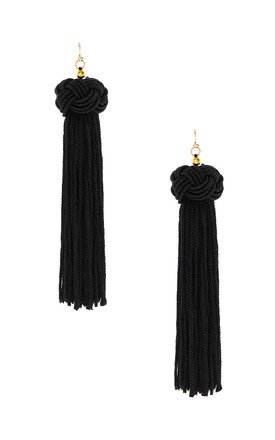 Black Tassel Earrings by HAUS OF DECK