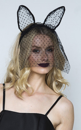 Halloween Polka Mesh Mouse Headband by Johnny Loves Rosie