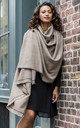 Shoreditch Merino Wool Oversize Blanket Scarf Truffle 100 x 215cm by likemary
