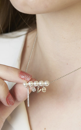 Love Pearl Necklace White Gold by DOSE of ROSE
