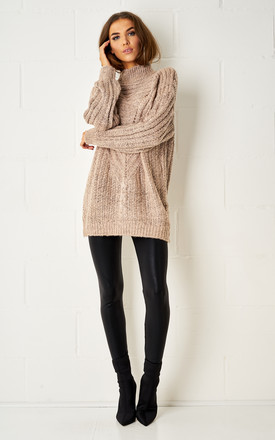 Aspen Blush Pink Cable Knit Jumper by Frontrow Limited