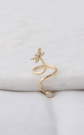 Gold Dragonfly Nail Ring by DOSE of ROSE