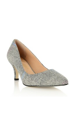 Green Park Tweed Kitten Heels by Yull Shoes