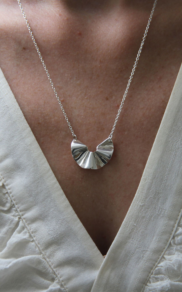 Silver Ruffle Necklace by XISSJEWELLERY