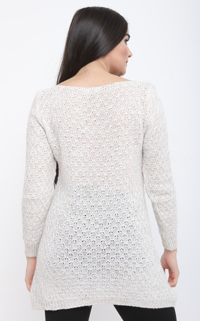 WHITE THIN KNIT JUMPER by Aftershock London