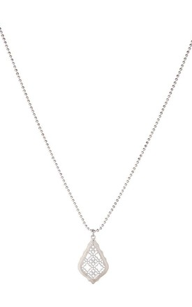 Olia Jewellery Rayne Long Necklace In Color Silver by Olia Jewellery