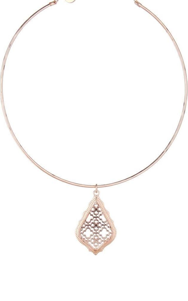 Olia Jewellery Viola Necklace In Color Rose Gold by Olia Jewellery