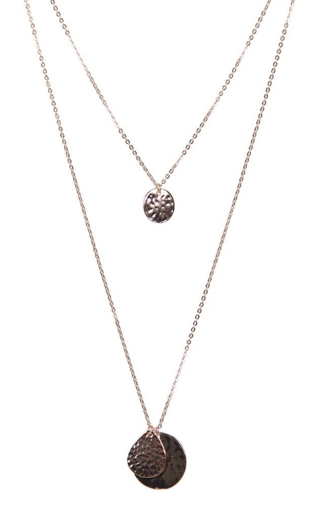 Olia Jewellery Riva Long Necklace In Rose Gold by Olia Jewellery