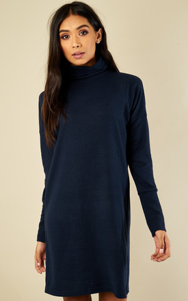 Navy Long Sleeved Bat Wing Dress by Noisy May Product photo