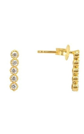 Mini Bar Stud Earrings by DOSE of ROSE