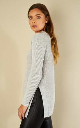 Light Grey Long Sleeve Jumper by Glamorous