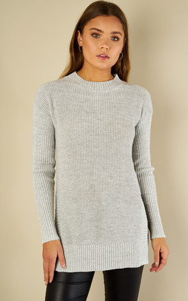 Light Grey Long Sleeve Jumper by Glamorous Product photo