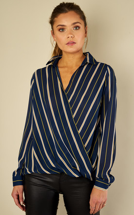 Striped Cross Over Top by Oeuvre Product photo