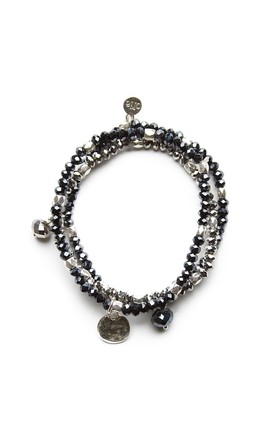 Olia Jewellery New Zena Bracelet In Colour Navy by Olia Jewellery