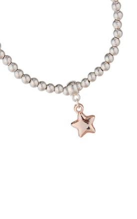 Olia Jewellery Madison Star Bracelet In Colour Silver And Rose gold by Olia Jewellery