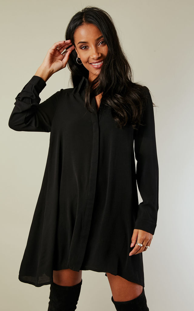 Black Swing shirt dress by Glamorous