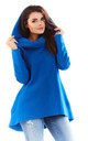 Blue Turtleneck Hoodie by AWAMA