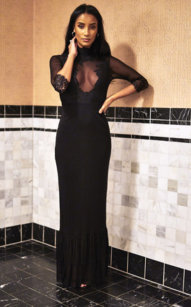 Noir Reversible Take A Bow Dress by Hot As Hell Product photo