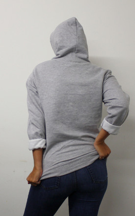 Hoodie in Grey With Loyal Graphic Slogan by Save The People