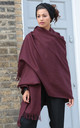 Kasa Oversized Merino Wool Scarf in Raisin Red by likemary