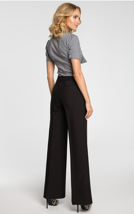Black classic wide-leg trousers by MOE