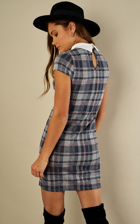 CHECK COLLAR DRESS by Lilah Rose