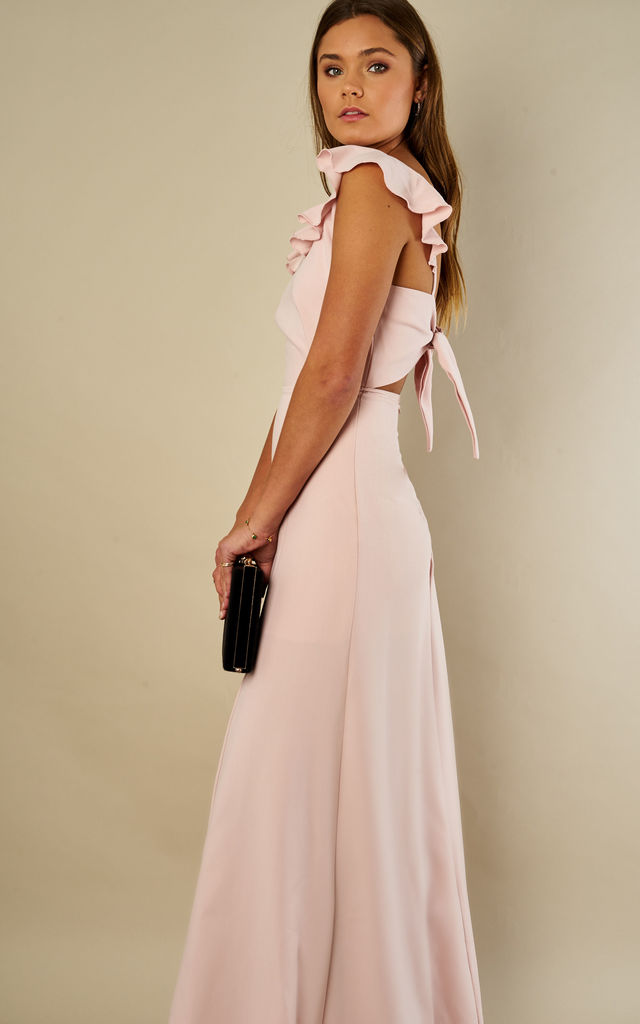 1eca4999e23a Blush Pink Tie Back Maxi Dress by John Zack