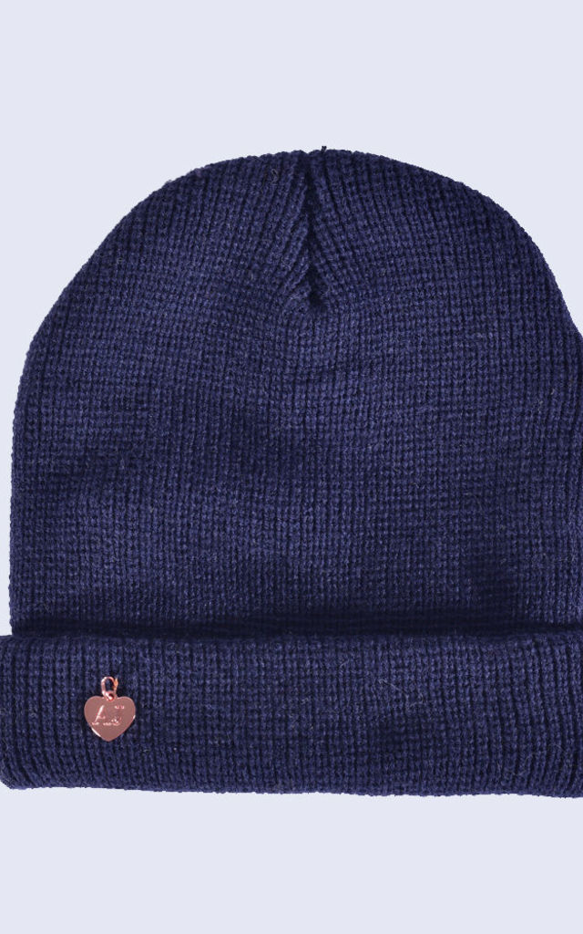 Navy Beanie by Amelia Jane London