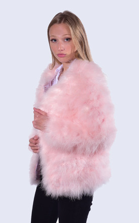 Feather Jacket Candy Pink by Amelia Jane London