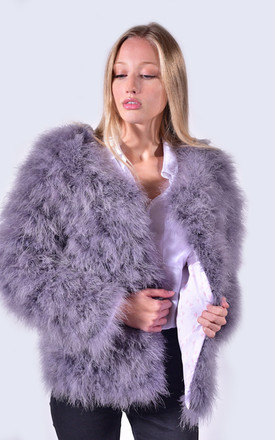 Feather Jacket Clouded Grey by Amelia Jane London
