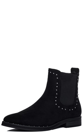ALANI Flat Chelsea Ankle Boots - Black Suede Style by SpyLoveBuy