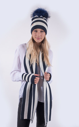 Navy and White Striped Set by Amelia Jane London