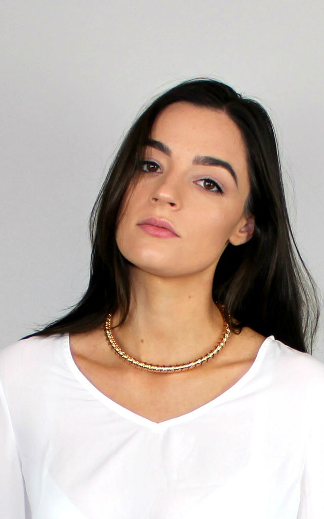 Gold Bangle Choker by HAUS OF DECK