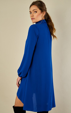Cobalt Blue Choker Pussy Bow Dress by Bella and Blue