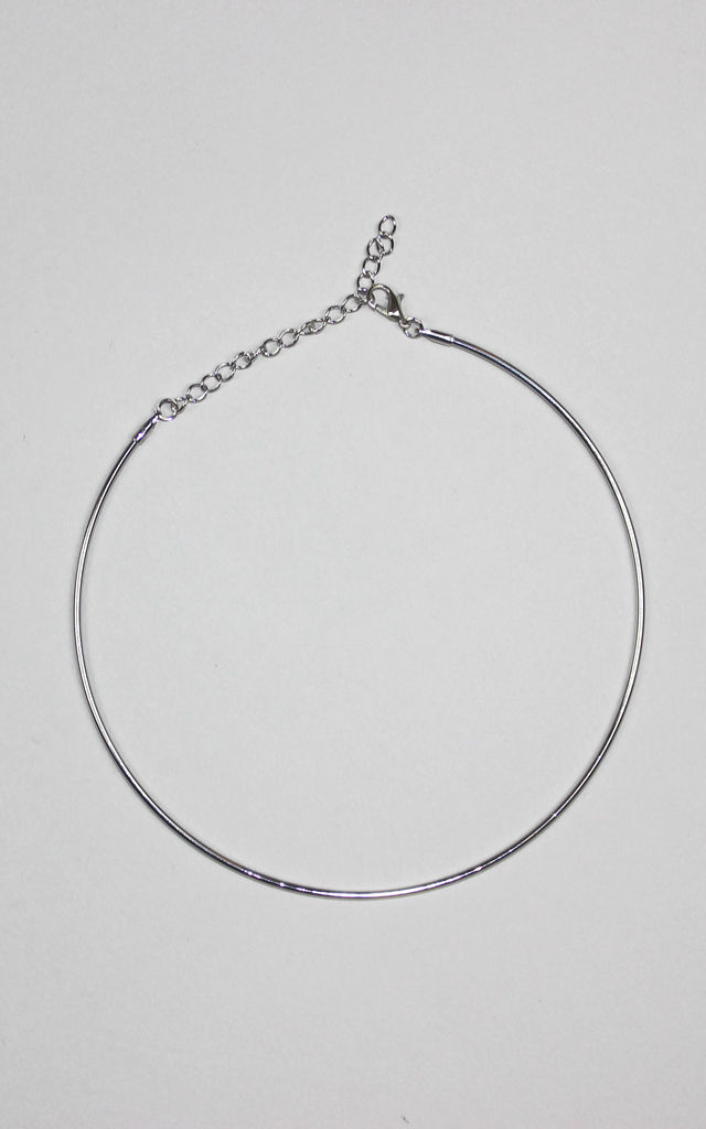 X-Thin Silver Bangle Choker by HAUS OF DECK