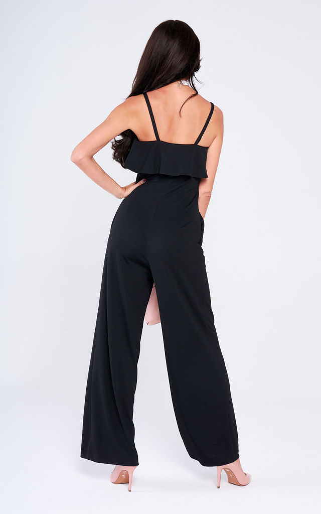 Black Frill Jumpsuit by Lady Flare