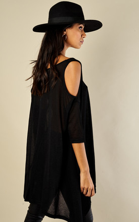 Cold Shoulder Swing Top by Oeuvre