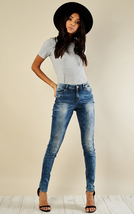 Slim Fit Denim Wash Jeans by VM Product photo
