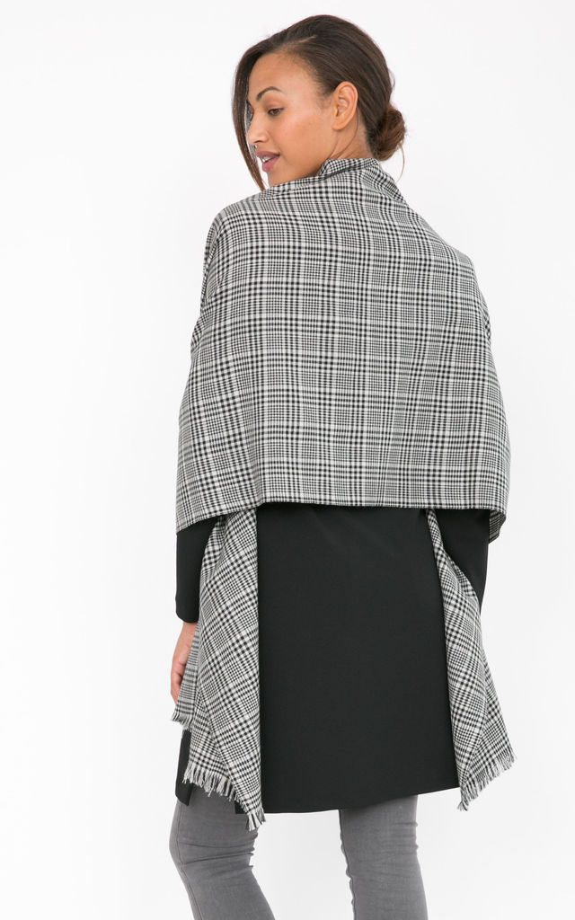 Handwoven Merino Pashmina and Oversize Checks Scarf by likemary